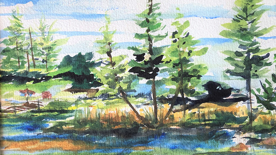 Watercolor, Back to Basics-6/26