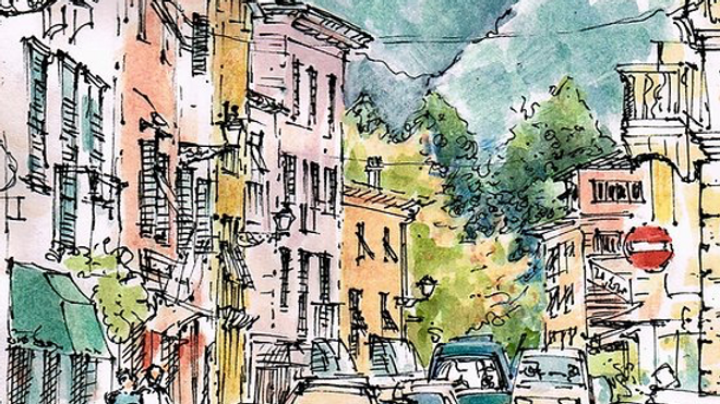 Introductory Class in Pen and Ink and Watercolor with Ann Thomas