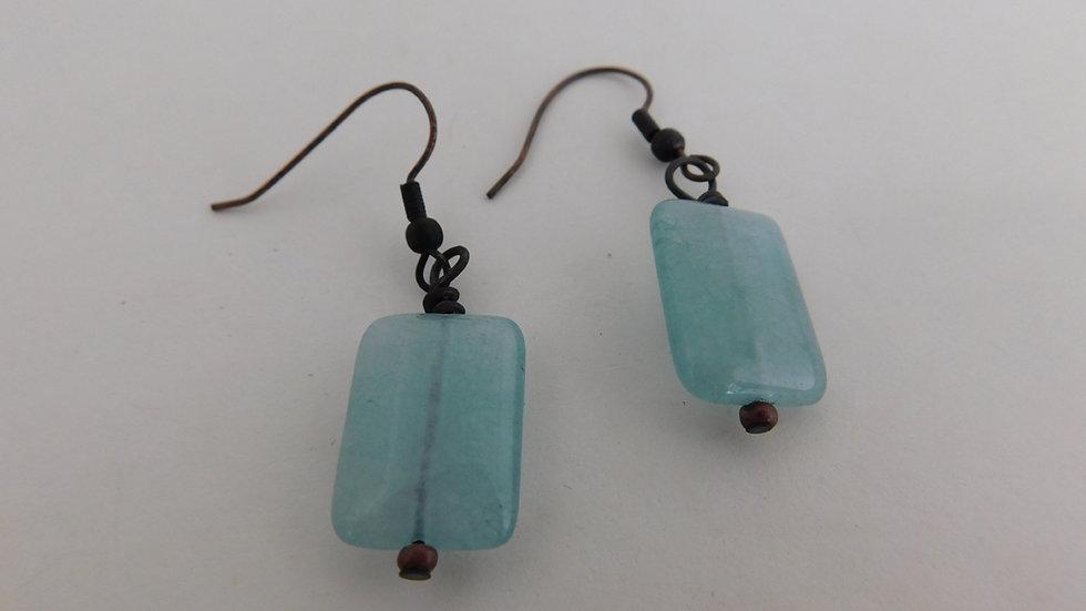 Fluorite Gemstone Bead Earrings