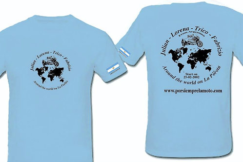 CAMISETA CELESTE-BLUE T-SHIRT