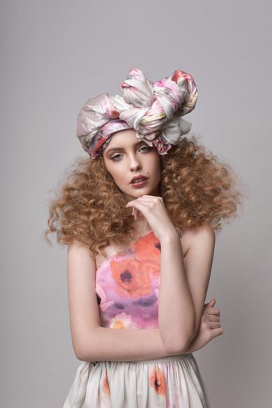 Asymmetrical Printed Floral Maxi Dress