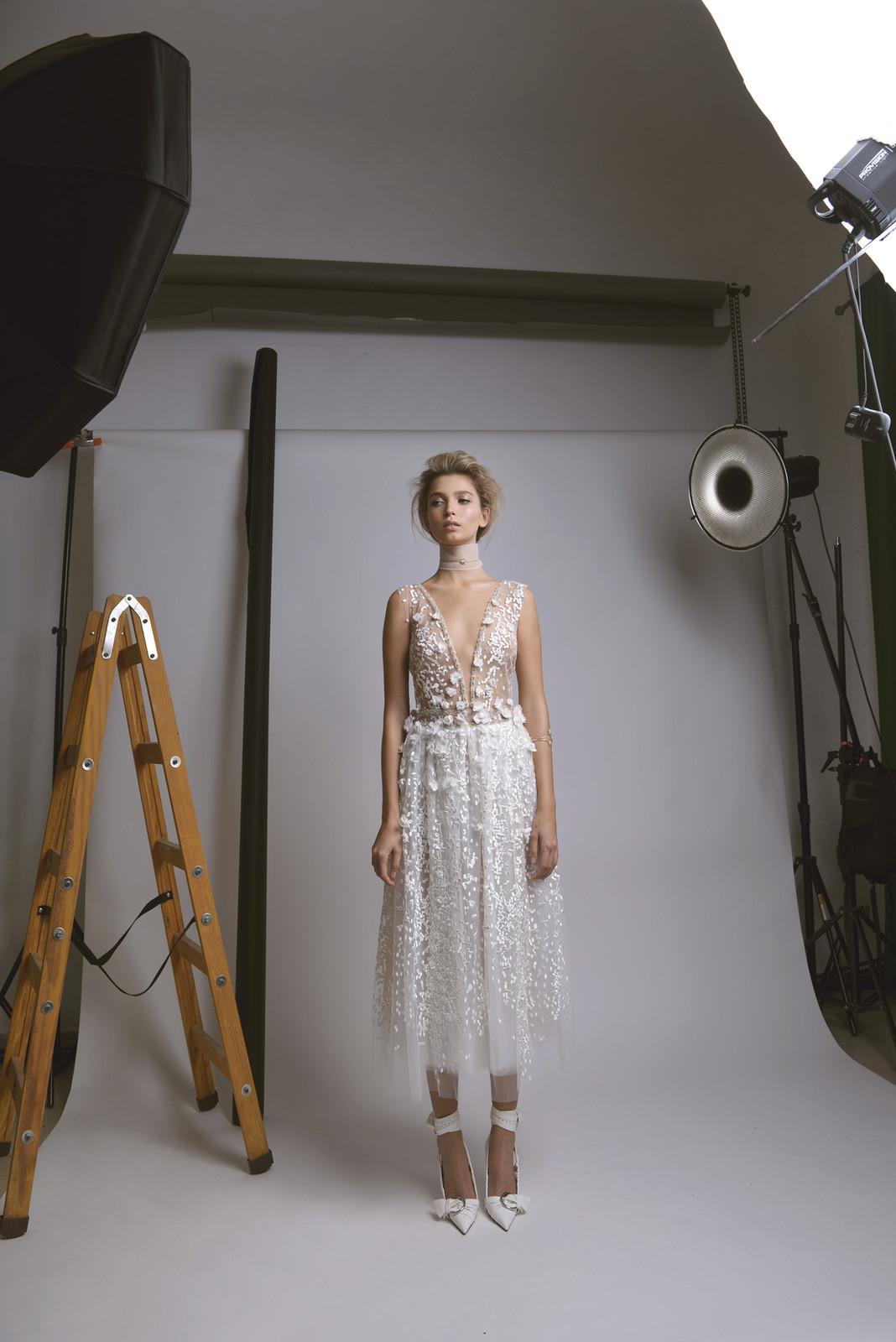 Midi Floral Wedding Dress