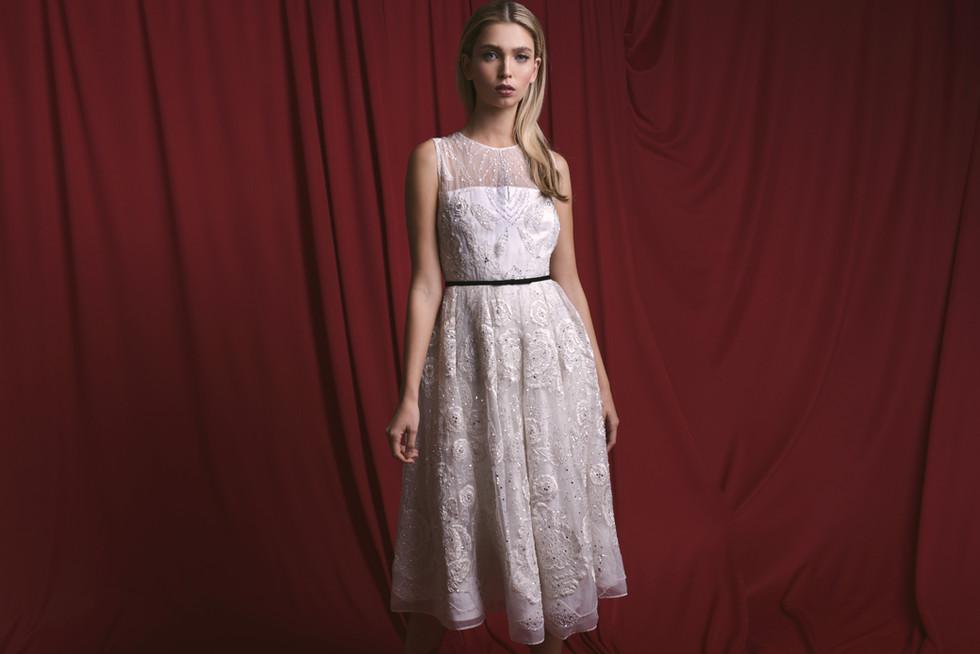 Modest Chic A Line Wedding Dress