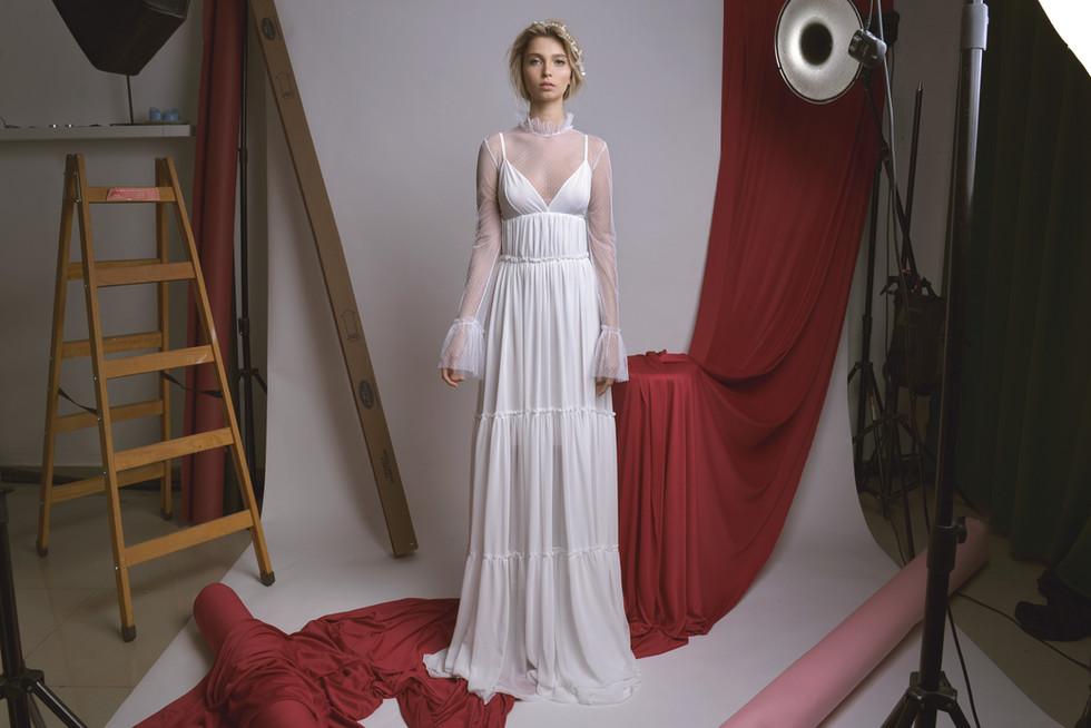 Romantic Chiffon Maxi Wedding Dress