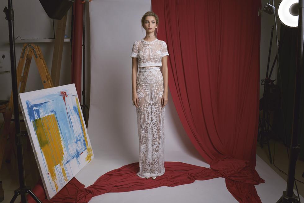 Lace Wedding Dress Set