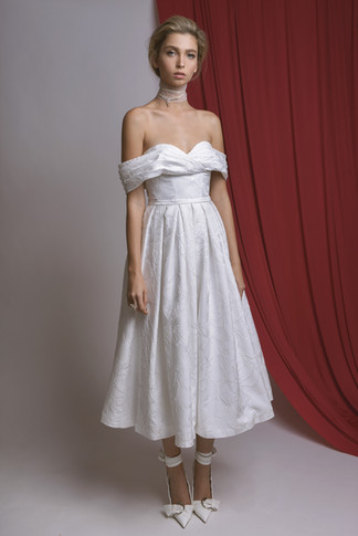 Off The Shoulder Short Wedding Dress