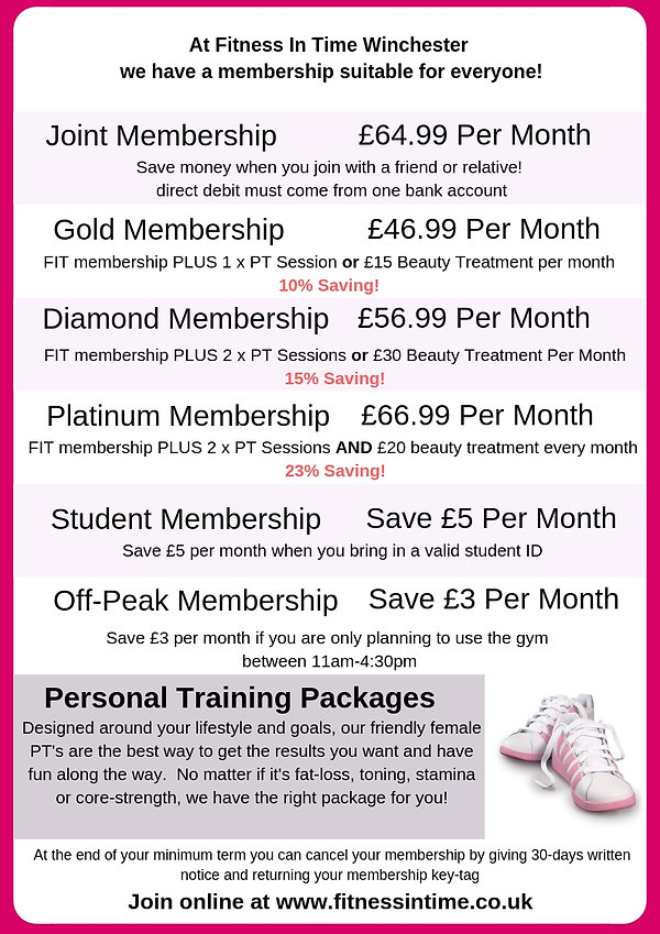 our prices for membership