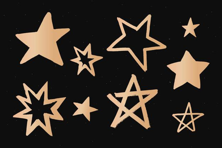 sparkly-stars-gold-space-doodle-sticker_