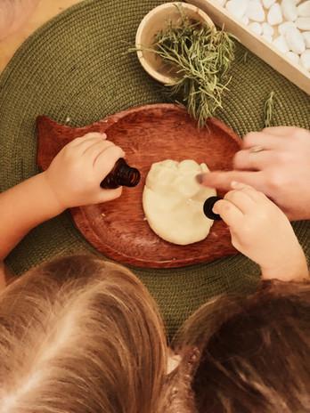 Making Natural Play Doh