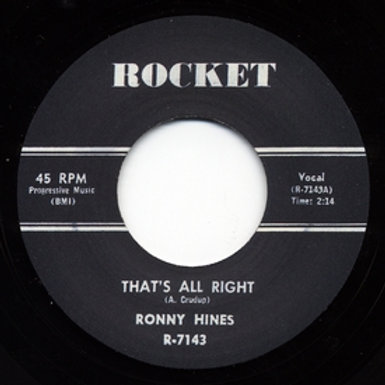 RONNY HINES - That's All Right
