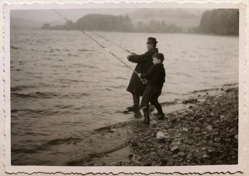Stefan mit seinem Opa 1964