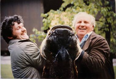 Stefan mit seinem Vater 1987
