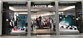 Lacoste Christmas window display