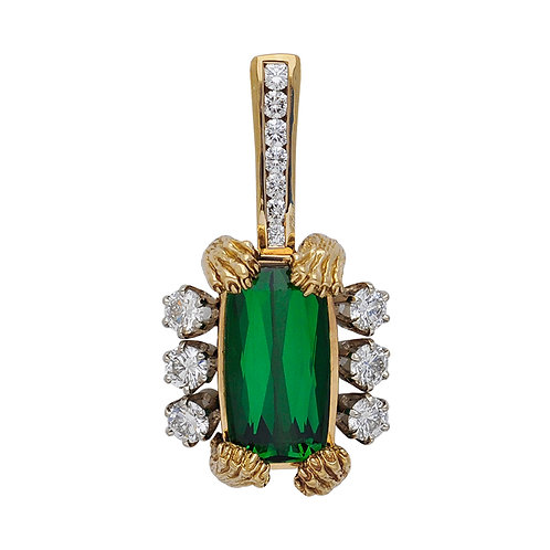 Tourmaline & Diamond Paws Pendant