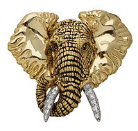 Elephant, Pendants, necklaces, rings, earrings, Diamonds, 18kt Gold, Fine jewelry,