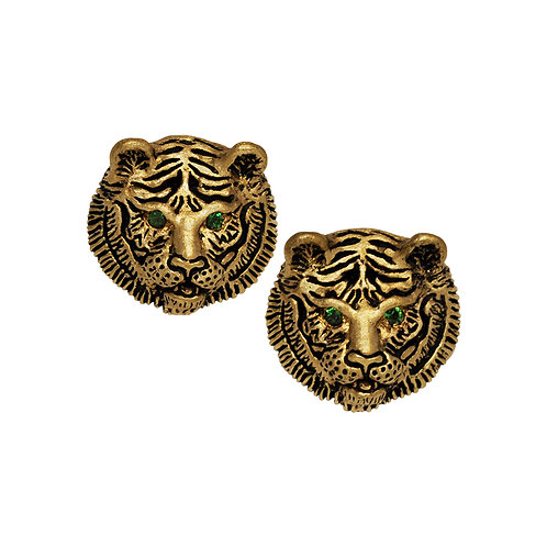 Tsavorite Tiger Stud Earrings
