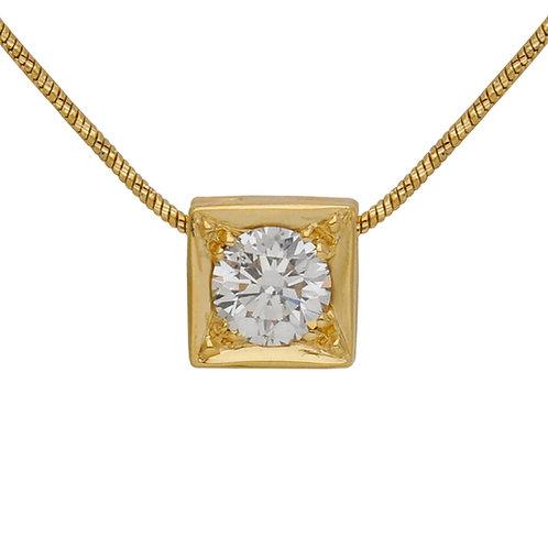 1ct Diamond Square Pendant