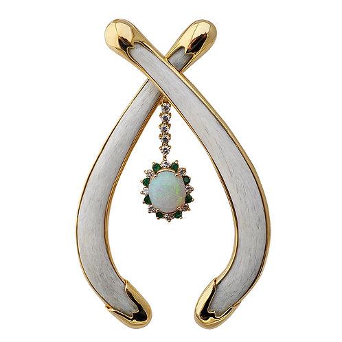 Opal Bone Pendant