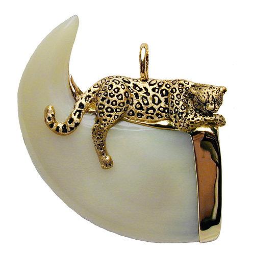 Sleeping Leopard Claw Pendant