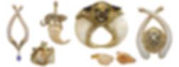 Bone, teeth, claws, Diamonds, 18kt Gold, Fine jewelry,