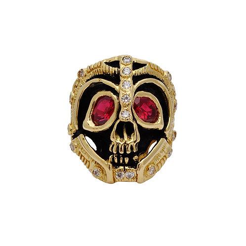 Skull Ruby & Diamond Ring