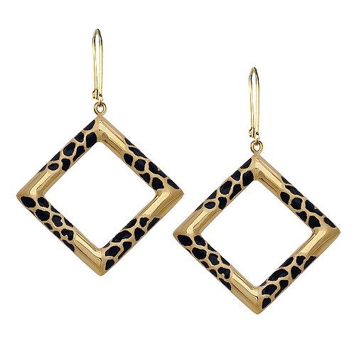Giraffe Square Earrings