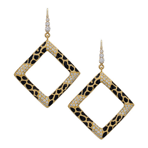 Giraffe Square Pave Earrings