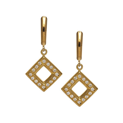 Diamond Square Earrings