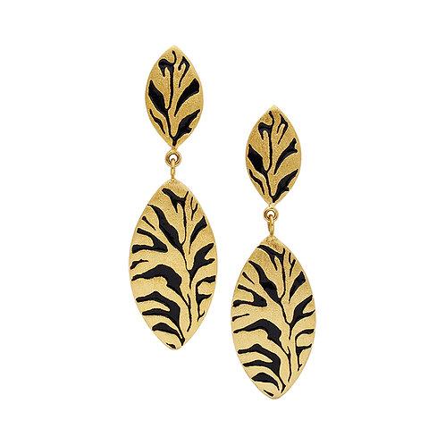 Zebra Shield Earrings