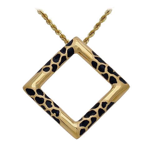 Giraffe Square Pendant
