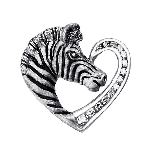 Zebra Heart White