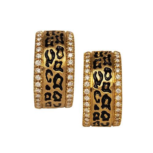Diamond Leopard Print Earrings