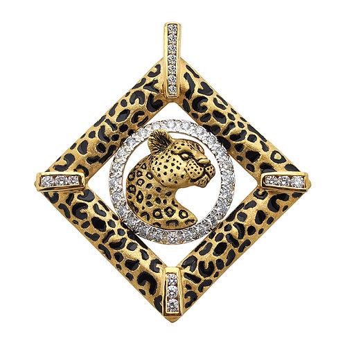 Leopard Diamond Accents