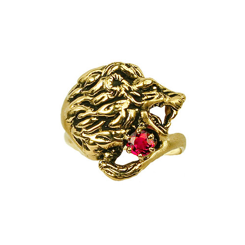 Lion Ruby Ring