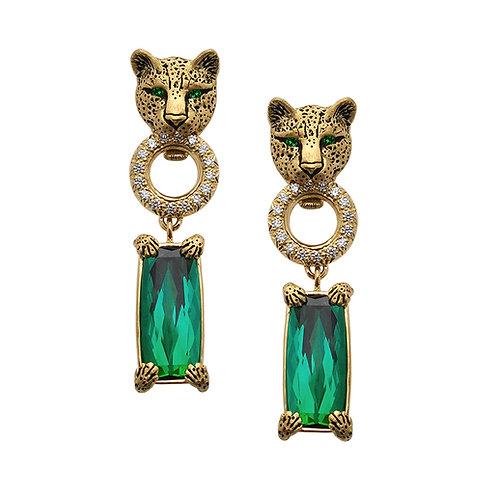 Leopard Tourmaline Earrings