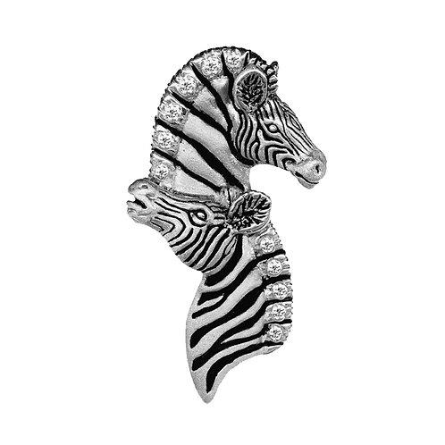Zebra Duo Pendant