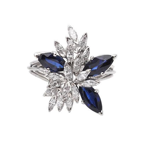 Marquis Sapphire & Diamond Ring