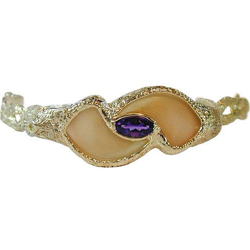 Claw & Amethyst Bracelet