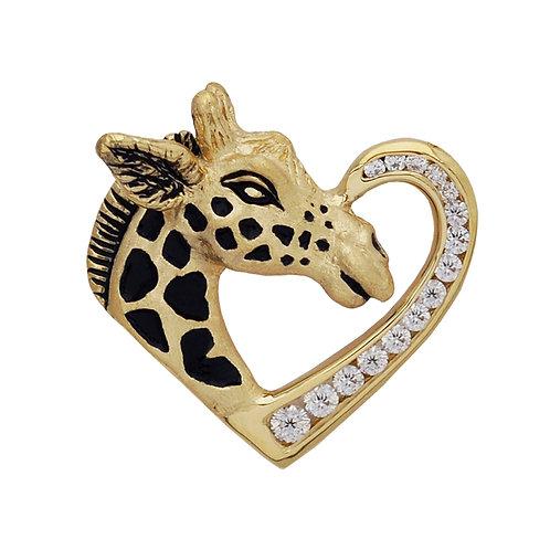 Giraffe Heart Pendant