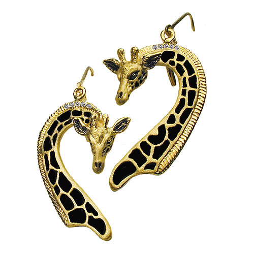 Giraffe Long Earrings