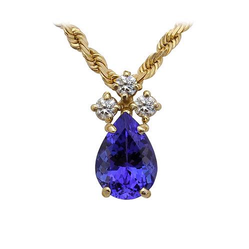 Tanzanite & Diamond Pendant