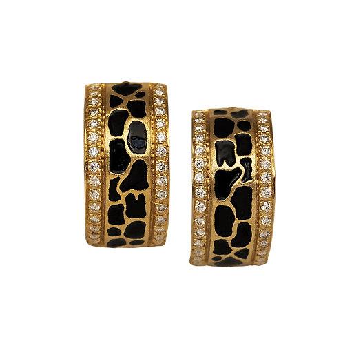 Diamond Giraffe Print Earrings
