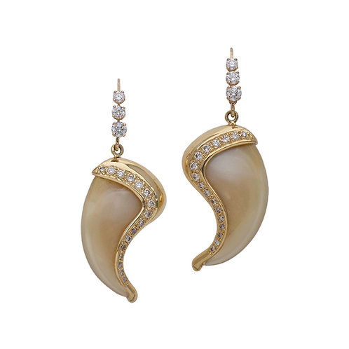 Diamond Claw Earrings