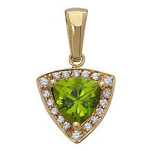 Peridot, Diamonds, Pendants, necklaces, rings, earrings, 18kt Gold, Fine jewelry,