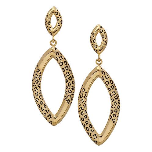 Leopard Marquis Earrings