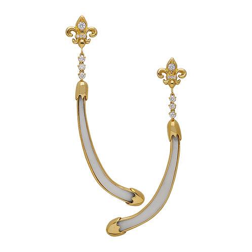 Fleur de Lis Bone Earrings
