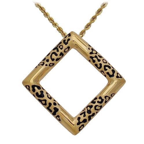 Leopard Square Pendant