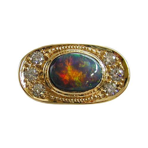 Back Opal Ring