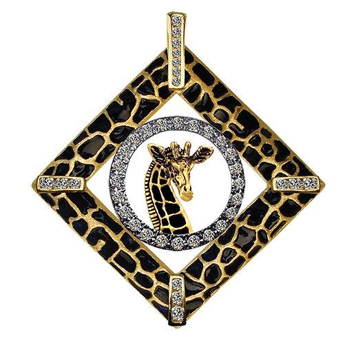 Giraffe Diamond Accents