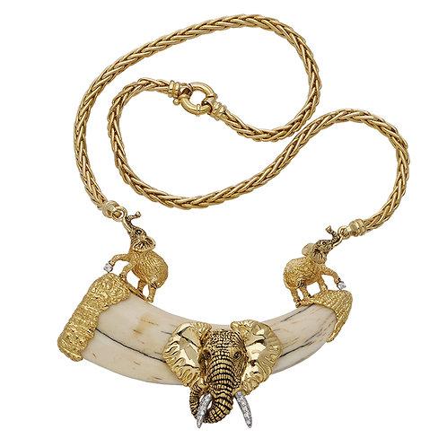 Elephant Necklace & Wart Hog Tusk